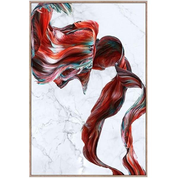 ARTISTIC ΠΙΝΑΚΑΣ ΜΕ ΧΡΥΣΗ ΚΟΡΝΙΖΑ 80x120cm