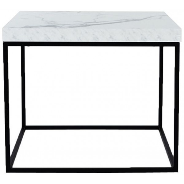 BIANCO COFFEE TABLE CARRARA ΜΑΥΡΟ 59x59xH50cm