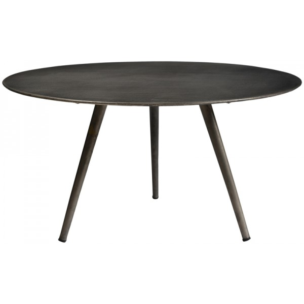 CELLINE COFFEE TABLE NICKEL ANTIQUE D76xH40cm