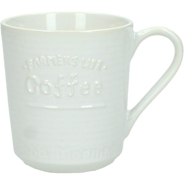 COFFEE ΚΟΥΠΑ ΚΕΡΑΜΙΚΗ ΛΕΥΚΗ 11x8xΥ8.7cm