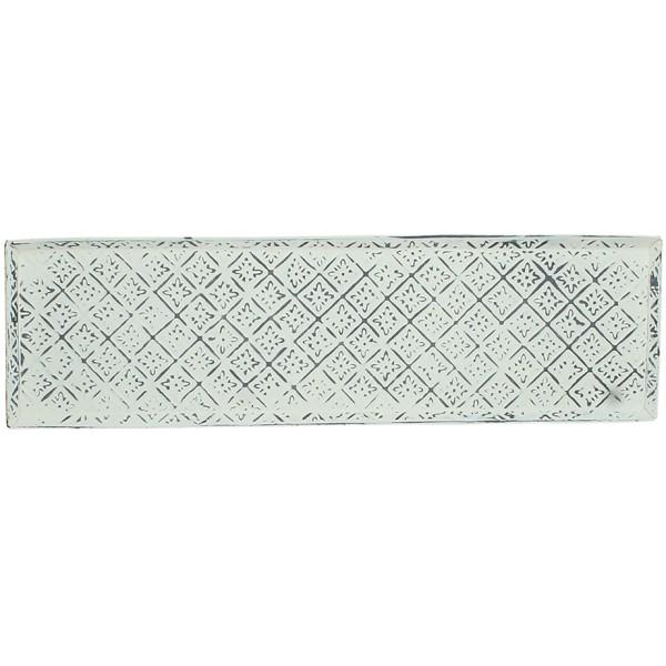 ΔΙΣΚΟΣ ΟΡΘΟΓΩΝΙΟΣ ΜΕΤΑΛΛΙΚΟΣ ΓΚΡΙ 56x16xY1,5cm