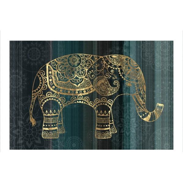 ELEPHANT ΠΙΝΑΚΑΣ ΠΡΑΣΙΝΟ/ΧΡΥΣΟ  120x80cm