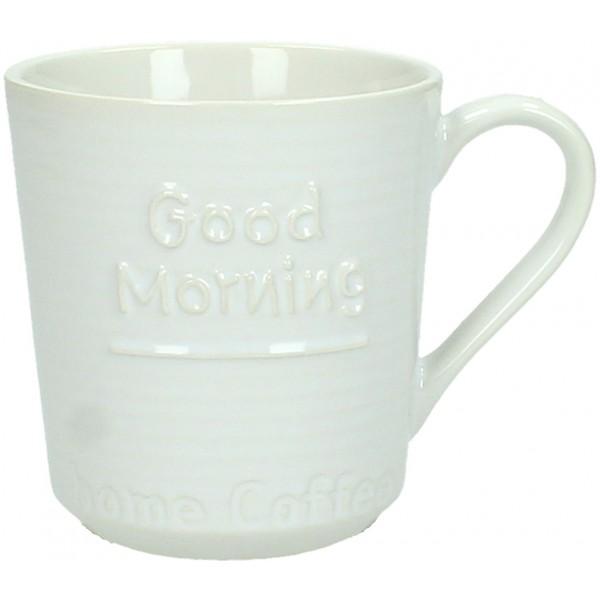 GOOD MORNING ΚΟΥΠΑ ΚΕΡΑΜΙΚΗ ΛΕΥΚΗ 11x8xΥ8.7cm