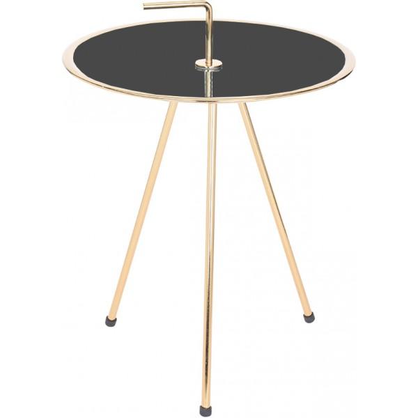 INDEX SIDE TABLE ΧΡΥΣΟ/ΜΑΥΡΟ Δ42xΥ57,5cm