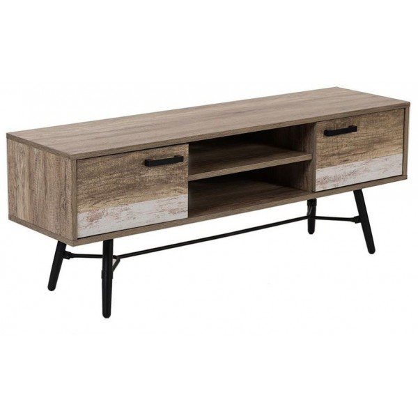 ISOLA TV STAND 2ΠΟΡΤΕΣ FOREST WHITE WASHED 145x39,5xH55cm