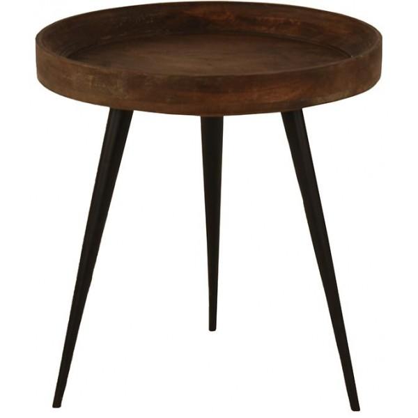 SOHO SIDE TABLE ΚΑΦΕ ΜΑΥΡΟ D50xH52cm