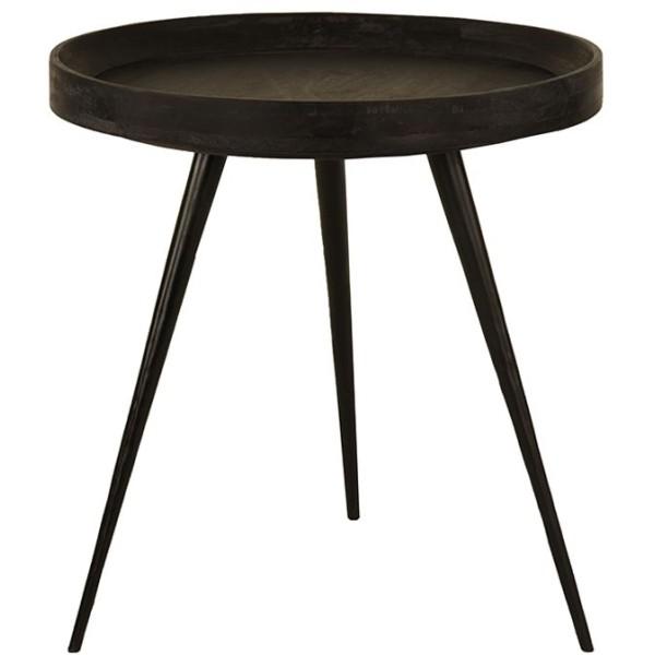 SOHO SIDE TABLE ΜΑΥΡΟ ΜΑΥΡΟ D60xH62cm