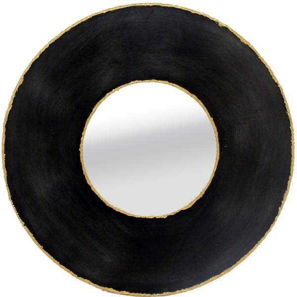 TREASURE ΚΑΘΡΕΠΤΗΣ ΜΑΥΡΟ ΧΡΥΣΟ D50x3cm