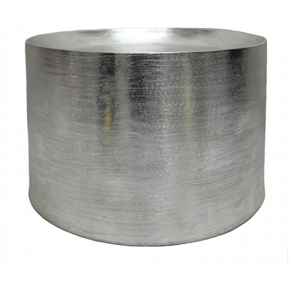 TUBE COFFEE TABLE ΑΣΗΜΙ ΜΑΤ D44,5xH30cm